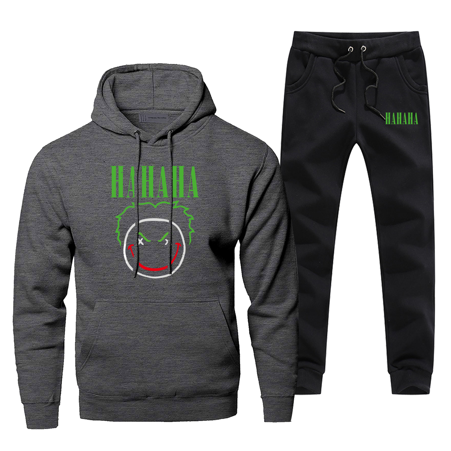 Joker Hoodie Pants Set Hahaha Villain Men Sweatshirt Male Hoodies Sweatshirts Mens Sets Two Piece Pant Pullover Jack Napier Coat