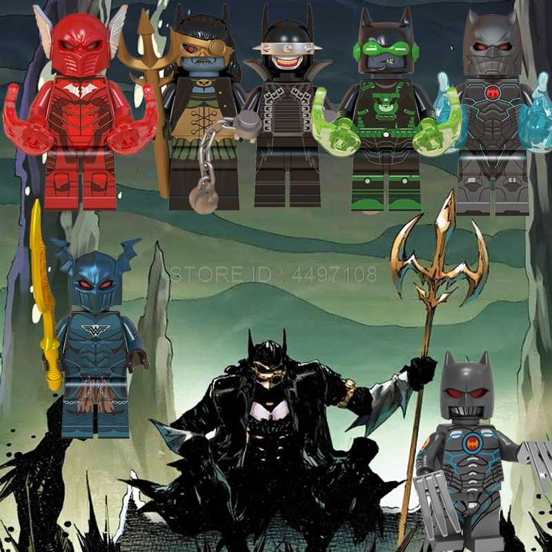 DC Figures Dark Knights Red Death Batman Dawnbreaker War Murder Machine Building Blocks Kids Toys Marvel Avengers IronMan Thanos