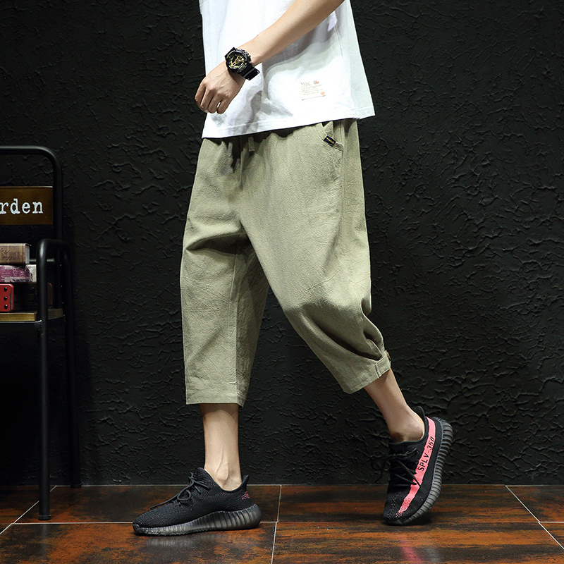 Linen Men Shorts Summer Fashion Casual Elastic Big Sizes Plus Loose Cargo Shorts Streetwear Mens Roupas Fitness Clothing XX60MS
