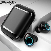 Bluetooth Earphones TWS Earbuds Wireless Bluetooth Earphones Stereo Headset Bluetooth Earphone With Mic and Charging Box samload bluetooth earphone eb10 tws true wireless earbuds bluetooth 4 0 stereo earphones with charger box portable
