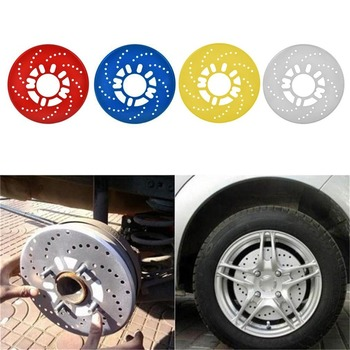 Aluminum Alloy Automotive Wheel Disc Brake Cover for Car Modification Brakes Sheet Auto Wheels Plate Rear Drum Brakes image