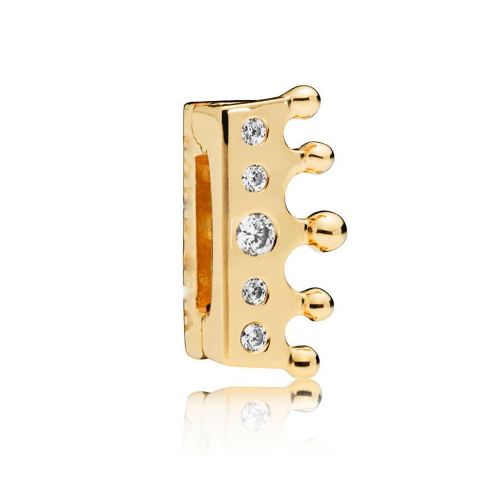 FEOLEO натуральная 925 пробы Серебряная скобка, очаровательные, подходят к оригиналу Pandora браслетов reflexions для Для женщин розового золота Цвет ювелирные изделия - Окраска металла: PAX011-B