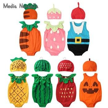 ¡Verano 2020! sombrero unisex para bebés y niñas con diseño de frutas, mono de algodón para bebés, bonitos trajes de fotografía