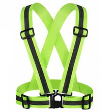 High Visibility Reflective Vest for Outdoor Riding Night Running Unisex Adjustable Elastic Belt Adults Security Safety Vest #2 reflective safety vest belt for kid child children pupil security reflective waistcoat belt for outdoor running jogging cyclin