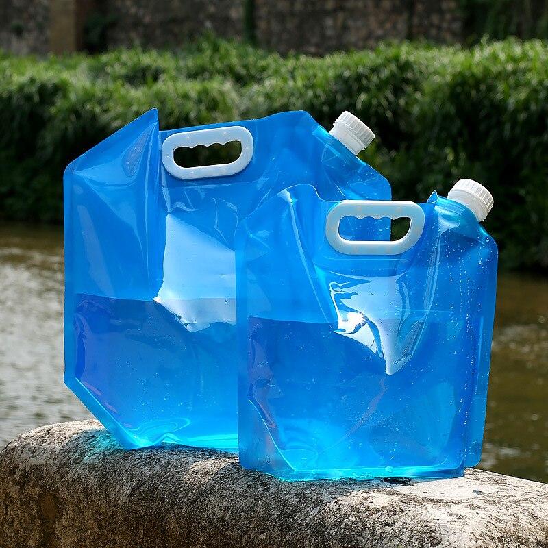 5L/10 LOutdoor pliable pliable pliable voiture potable sac porte-sac conteneur en plein air Camping randonnée pique-nique Kits d'urgence