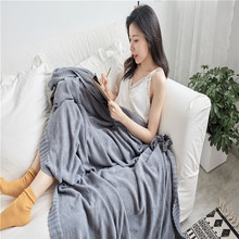 Spring new simple modern cotton knitted thread blanket orchid lattice knitted blanket sofa air conditioning nap blankets for bed wostar modern fashion hand chunky knitted blanket modern art winter soft warm bed sofa cover blanket
