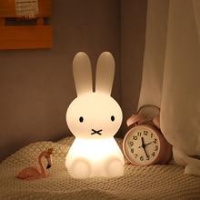 28Cm Rabbit Night Light Ins Girl Heart Bedroom Sleep Children