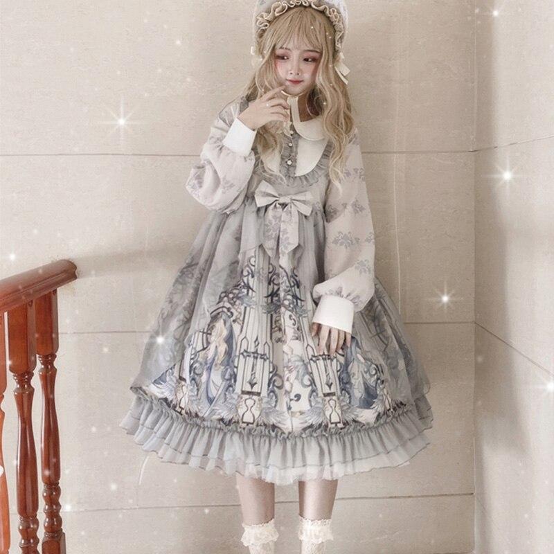 Купить винтажное платье в стиле питера пэна с воротником и высокой