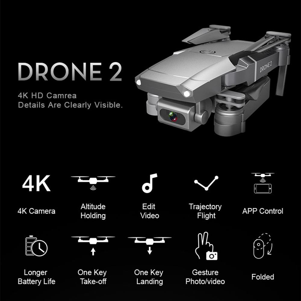 Folding Drone Trajectory Flight One Key Return Remote Control Aircraft  WIFI Function With a 720P   1080P   4K Wide-angle Camera