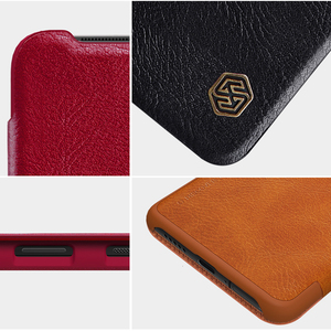 Image 5 - For Oneplus 7T Pro Flip Case NILLKIN QIN Flip Leather Cover For Oneplus 7T Case wallet Phone Case with Card Pocket