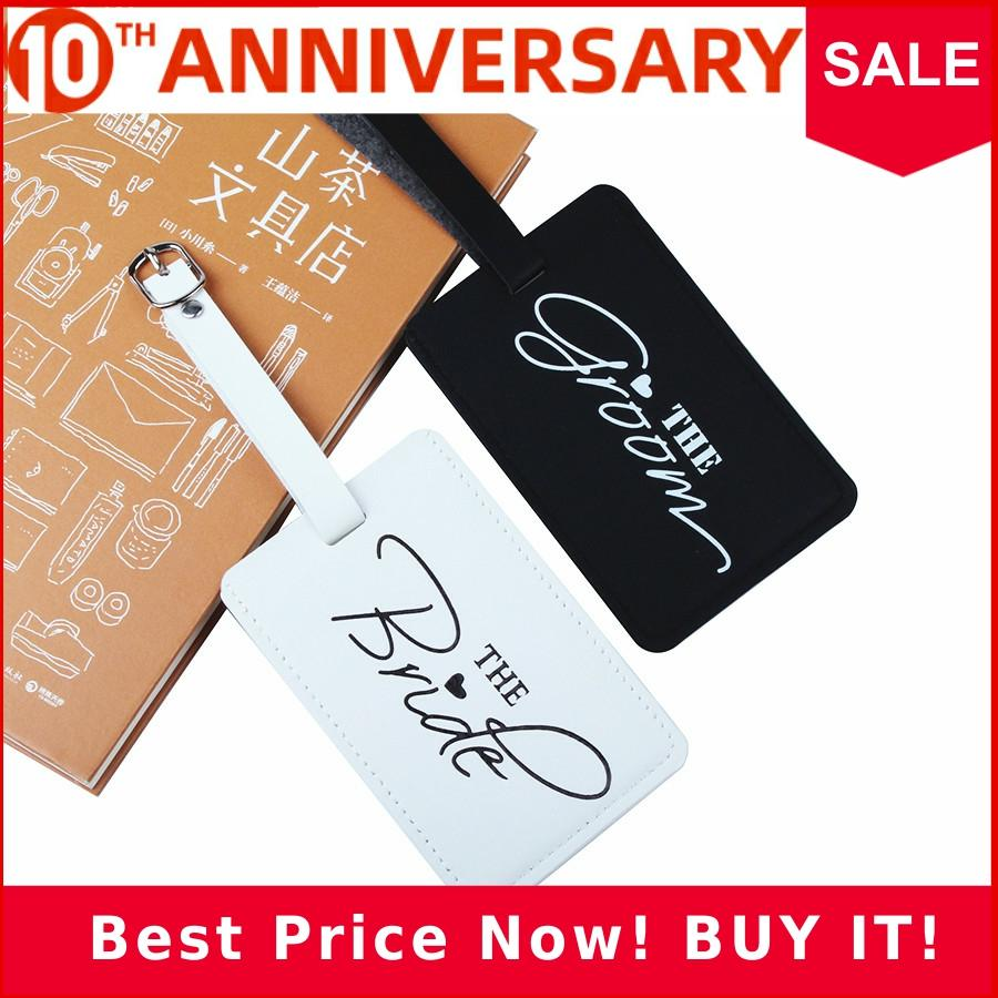 Bride&Groom Suitcase Luggage Tag Bag Pendant Travel Accessories Name ID Address Personalized VIP Invitation Label LT34