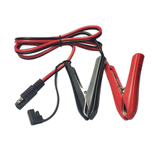 100CM 14AWG Alligator Crocodile Clip to SAE Connector Quick Release Quick Disconnect Car Solar Power Charging Extension Cable