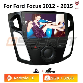 2+32/2+16 9Inch Android 10 Multimedia Player Car Radio For 2012 2013 2014 2015 Ford Focus Stereo Bluetooth WIFI USB OBD2 Cam-in image