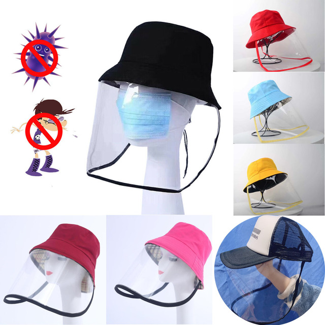 Epidemic Protection Hat Anti Saliva Cap Face Shield Isolation Face Cover Hats