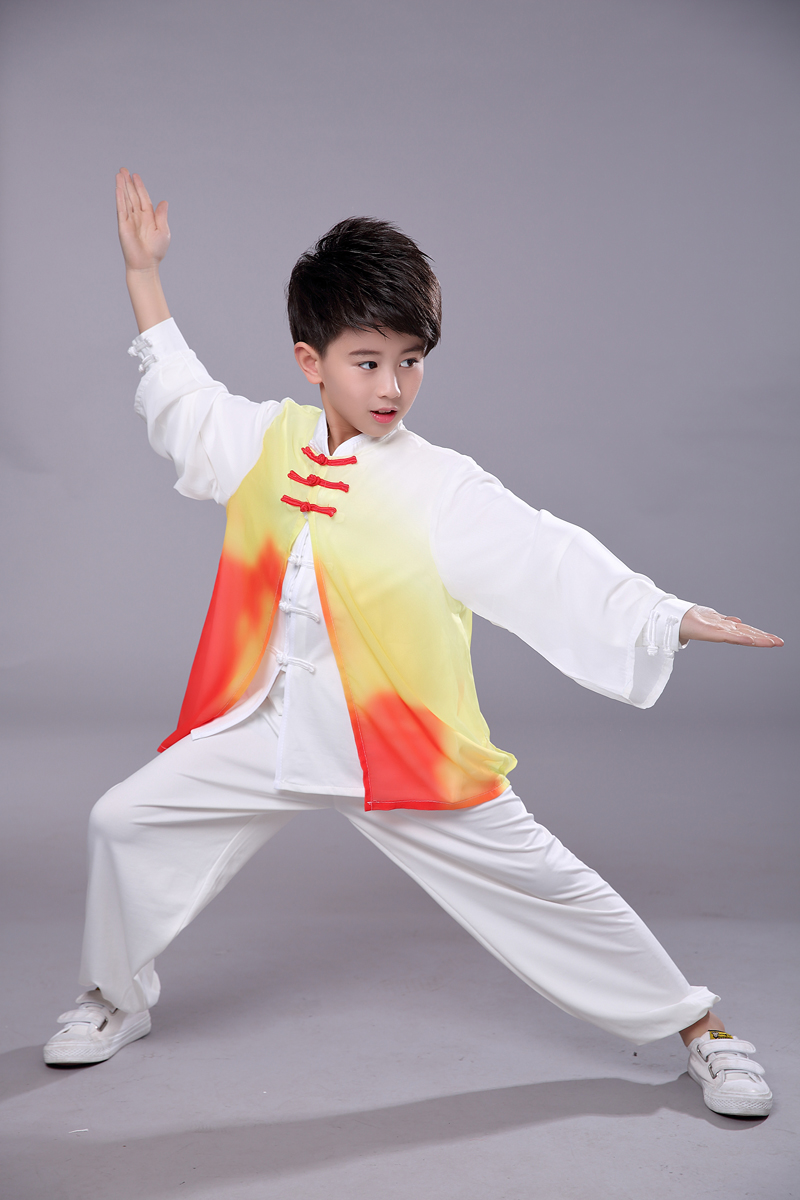 2019 Kids Chinese Traditional Kungfu Uniform Martial Arts Sets Hanfu Wushu Boys Girls Performance Taichi Clothing For Children