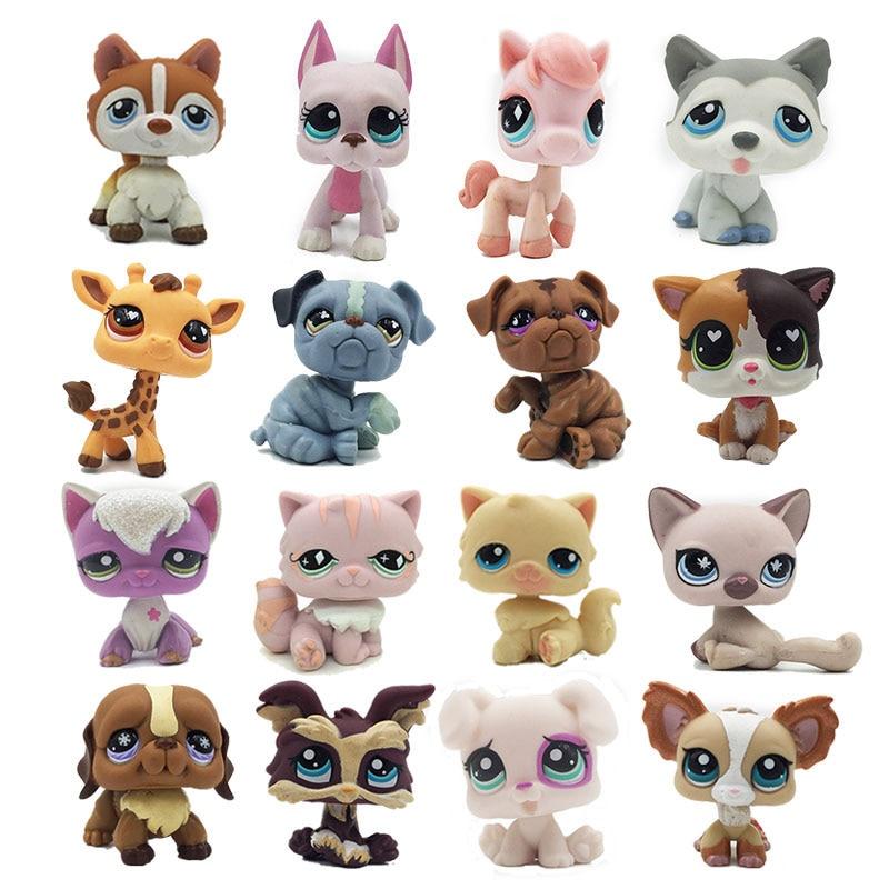 Lps Cat Rare Pet Shop Toys Standing Short Hair Cat Original Kitten Husky Puppy Dog Fox Littlest Animal Collection