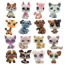 Lps chat rare animalerie jouets debout cheveux courts chat original chaton husky chiot chien renard plus petit animal collection(China)