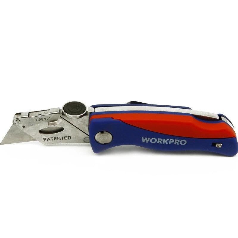 WORKPRO складной нож электрик универсальный нож для труб кабель Резак ножи с 5 шт. лезвия в ручке
