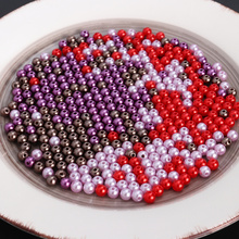 Artificial-Pearl-Beads Necklace Jewelry Craft-Making Round 6mm for Dark-Purple Dark-Purple