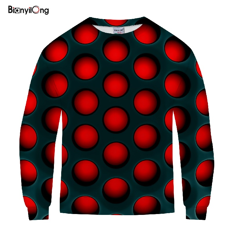 BIANYILONG 2019 New Sweatshirt Harajuku Hoodies Red Tennis 3D Print Unisex Casual Pullovers O-neck Long-sleeve Outwear Tops