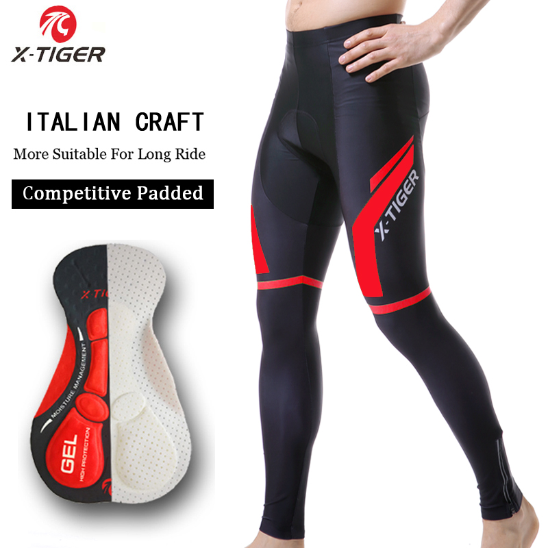 X-Tiger Spring Autumn Cycling Pants With 5D Gel Pad Cycling Tights MTB Bike Bib Pants Downhill Bicycle Pants Cycling Trousers