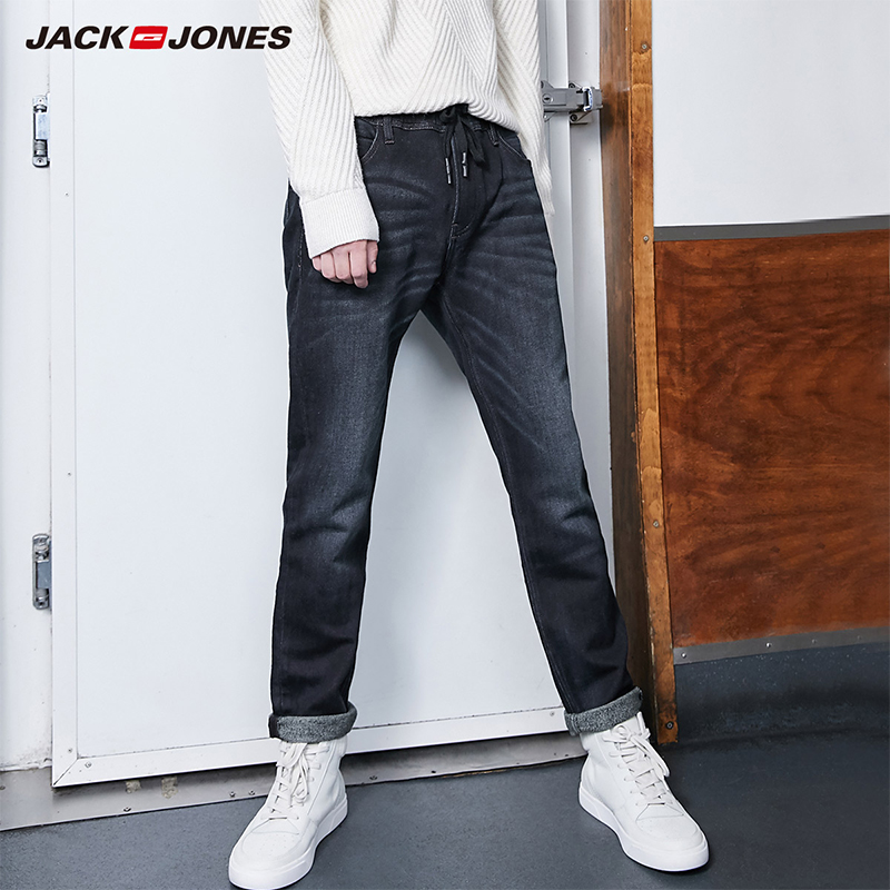 JackJones Autumn And Winter Men's Slim Fit Elastic Denim Pants |219332586