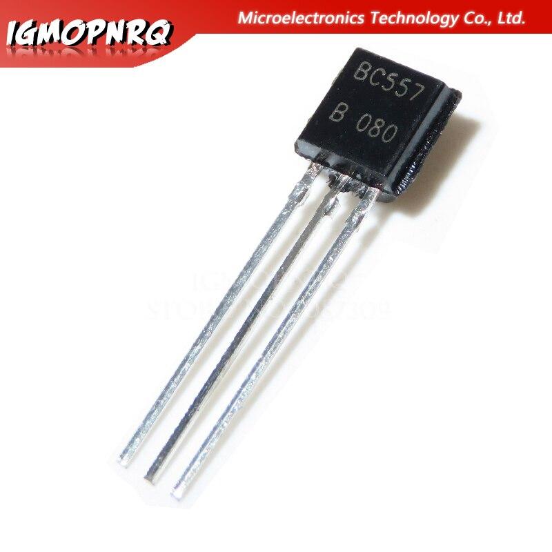 100pcs New BC557B BC557 PNP Transistor TO-92