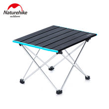 Naturehike Lightweight Compact Roll Up Aluminum Portable Outdoor Foldable Metal Garden Picnic Table Folding Camping Table Desk(China)