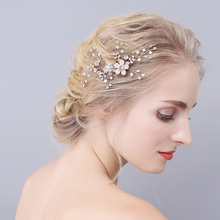 Factory direct sales of new European and American brides hair accessories comb rhinestone headdress wedding jewelry export EBAY