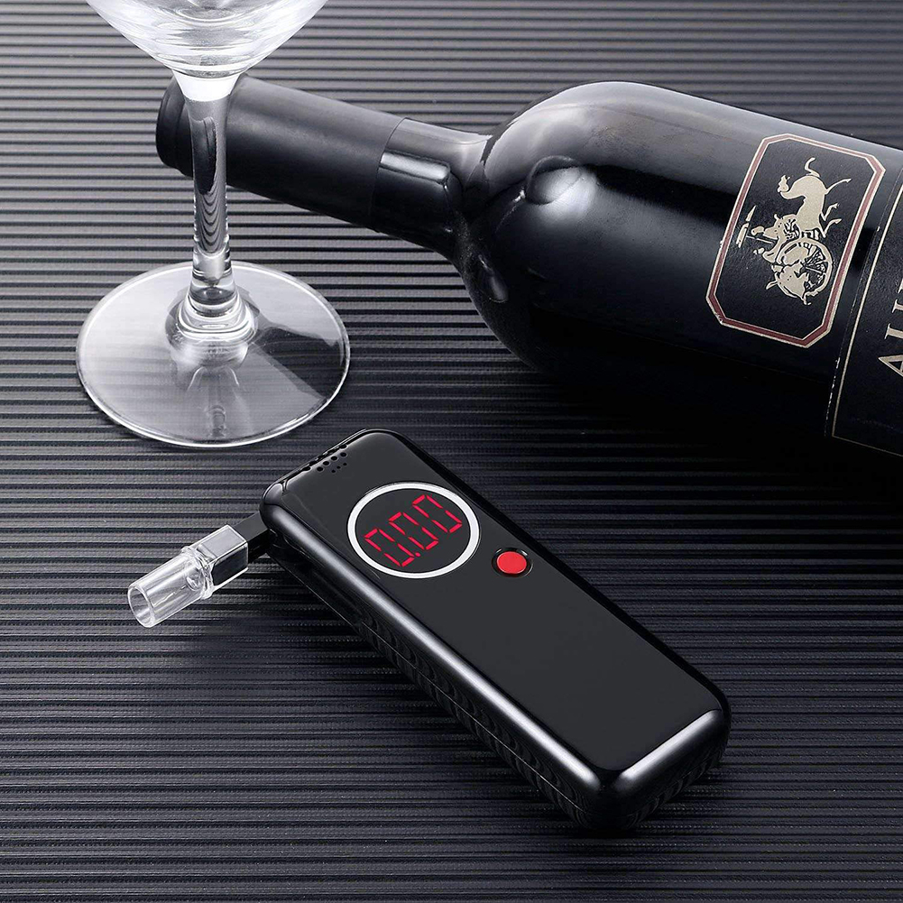 Portable Digital LCD Breathalyzer Breath Alcohol Tester Analyzer Detector Breath Detector Alcohol Detection Alcohol Checker