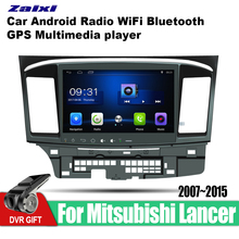 ZaiXi Android Car GPS Multimedia Player For Mitsubishi Lancer 2007~2015 car Navigation radio Video Audio Bluetooth