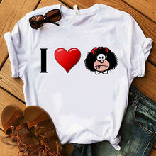 Женская футболка с принтом «i love paz mafalda» или «quiero»