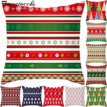 Fuwatacchi Christmas Style Cushion Cover Colorful Elk Throw Pillow Decorative Sofa Case Pillowcase