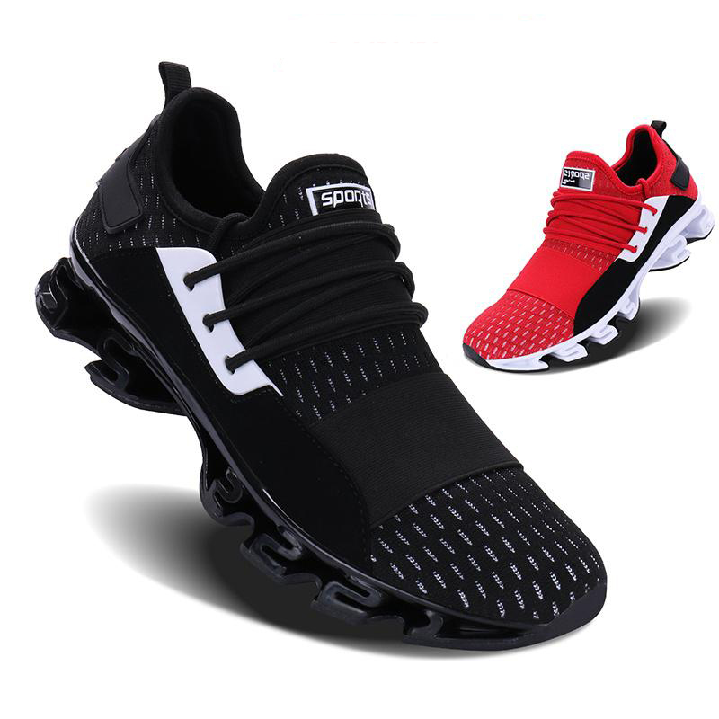 Fashion Men's Breathable Running Shoes Blade Cushioning Sports Shoes Lightweight Comfortable Footwear Outdoor Jogging Sneakers