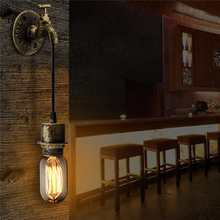 NEWRST E27 Vintage Industrial Rustic Wall Sconce Wall Light Fixture Fitting Water Pipes Style 5