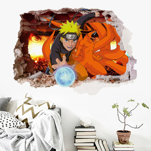 EWAYS Naruto Anime Cartoon Wall Sticker For Boy Room Decoration Outer Space Wall Decal Nursery Kids Bedroom Decor
