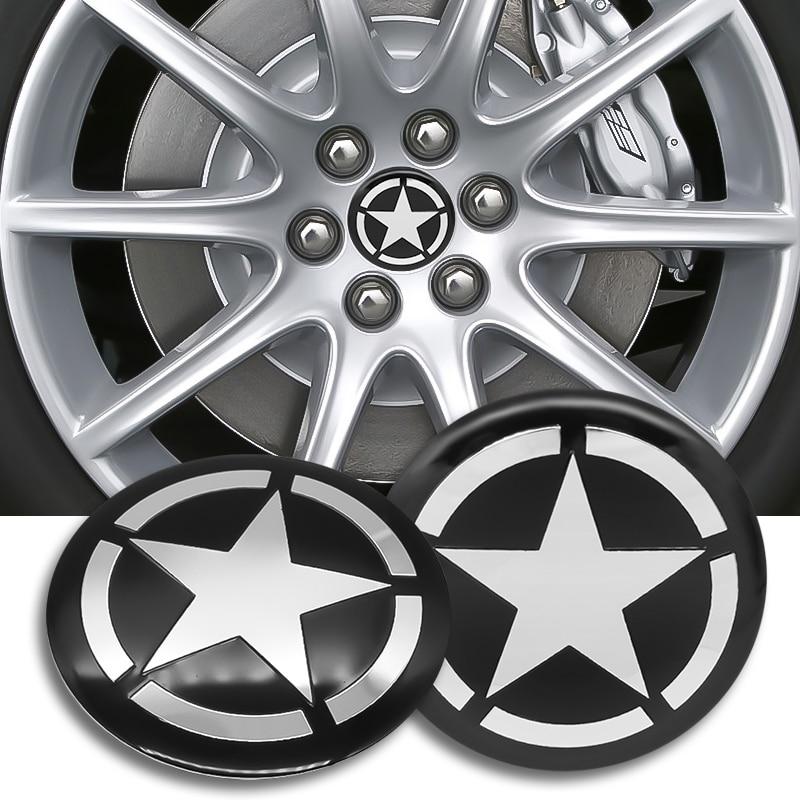 4 шт. 56 мм пятиконечная звезда Центральная втулка колеса автомобиля крышки эмблемы Стикеры наклейка колеса пылезащитные Чехлы логотип украшения Наклейки на автомобиль      АлиЭкспресс