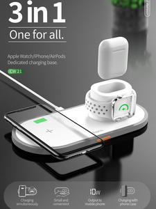 HOCO 3 in 1 Qi Wireless Charger Pad for iPhone 11 pro X XS Max XR for Apple Watch 4 3