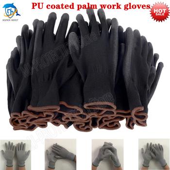 6-24 pary nitrylowych powlekane rękawice robocze rękawice poliuretanowe i mechaniczne rękawice robocze powlekane palmami uzyskane CE EN388 tanie i dobre opinie protect CN (pochodzenie) RĘKAWICE ROBOCZE