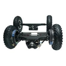 Электрический скейтборд 1650 Вт внедорожный Электрический Лонгборд с двойным двигателем 2x1650 Вт четырехколесный привод DIY пневматическое колесо Flipsky
