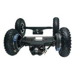 Новый Электрический скейтборд 1650 Вт внедорожный Электрический Лонгборд с двойным двигателем 2x1650 Вт четырехколесный привод DIY пневматическ...