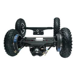 Новый Электрический скейтборд 1650 Вт внедорожный Электрический Лонгборд с двойным мотором 2x1650 Вт четырехколесный привод DIY пневматическое ...