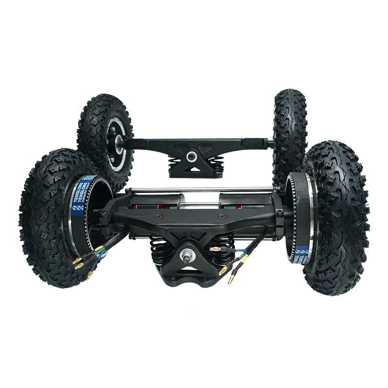 Nouvelle planche à roulettes électrique 1650W tout-terrain Longboard électrique avec double moteur 2x1650W quatre roues motrices bricolage roue pneumatique Flipsky