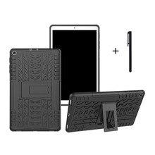 1x Гибридный PC+ TPU задняя крышка для samsung Galaxy Tab A 10,1 T510 T515 бронированный чехол-подставка
