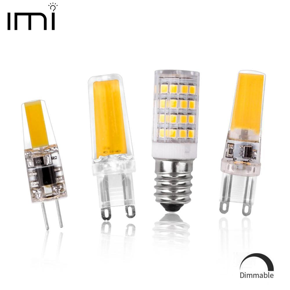 Led G4 G9 E14 Lamp Bulb Dimming Lighting COB SMD AC DC 12V 220V 3W 6W 9W Replace Halogen Lights Spotlight Chandelier Bombillas