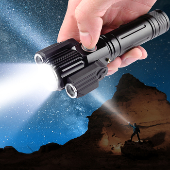 3 Head Zoomable LED Night Flashlight Torch Super Bright 4 Modes Rechargeable Camping Hiking Riding
