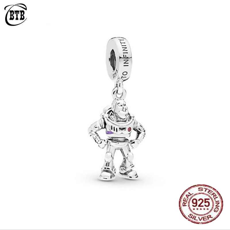 2019 ใหม่ 925 เงินสเตอร์ลิงลูกปัด Toy Story Buzz Lightyear แบบเดิม PAN สร้อยข้อมือผู้หญิง DIY เครื่องประดับ