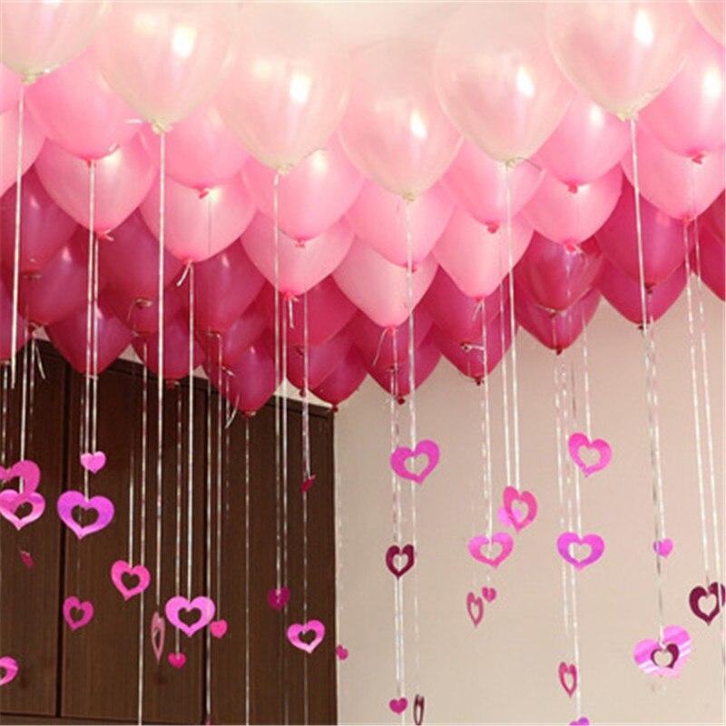 100 Pcs Baby Birthday Banquet Decoration Rain Silk Sequin Pendant Wedding Wedding Room Decoration Balloon Rain Silk Pendant