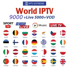 9000+Live IPTV Subscription Germany Dutch UK French Poland Spain USA Arabic Albania Australia For android tv box Smart IPTV m3u