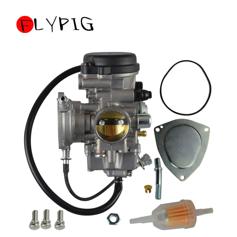 Universal Motorcycle <font><b>Carburetor</b></font> Carburador Carb for Yamaha Big Bear for Wolverine Kodiak Grizzly 350 400 <font><b>450</b></font> ATV @15 image